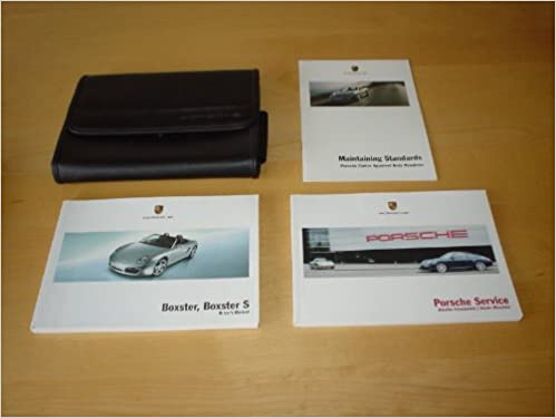 Porsche Boxster Boxster S Owners Manual Handbook With Wallet 987 Boxter Owner S Hand Book Manual Amazon Co Uk Porsche Books