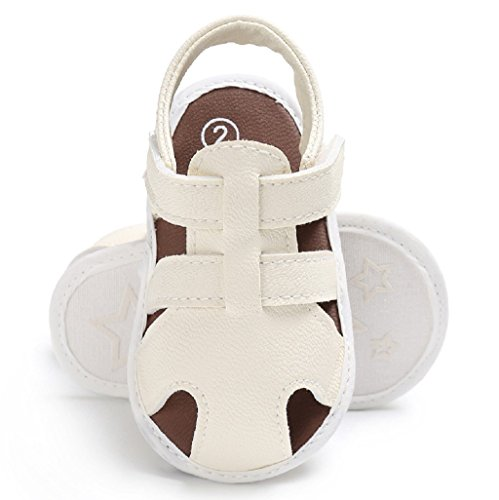Por 3-18 Meses, Auxma Sandalias para bebés Niños Zapatos Casual Zapatillas Antideslizante Soft Sole Blanco