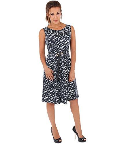 Bleu Pin Up Femme 7158 KRISP Vintage Robe Marine xnwXdvEvqC