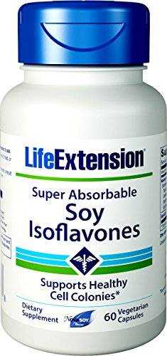 Life Extension Super-Absorbable Soy Isoflavones, 60 Vegetarian Capsules