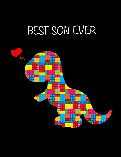 Valentine Classroom Decorating Ideas (BEST Son Ever: LEGO Valentines Dinosaur Gift for Boys ~ Sketchbook, Sticker Book - Activity Book for Kids, Young Artists Large Notebook 8.5