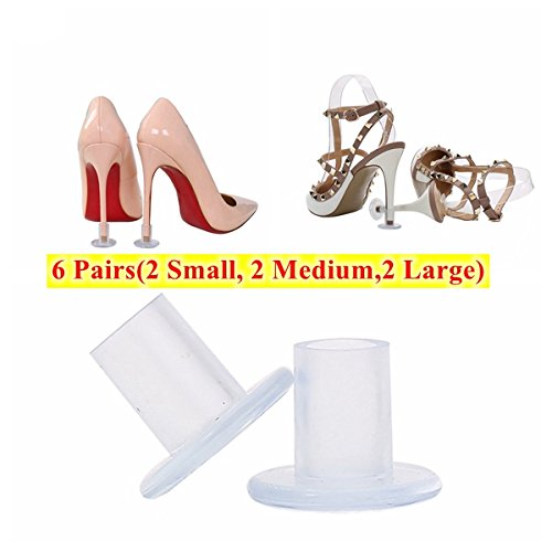 81df6e86913 Aohaolee Transparent 6 pairs high heel protectors heel stoppers with 2  Small, 2 Medium and 2 Large Size