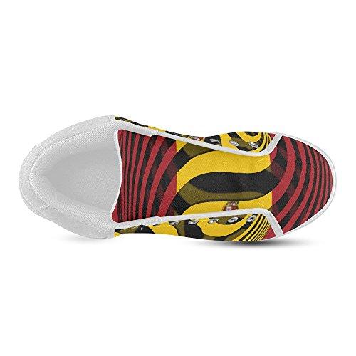 Interestprint La Bandera De España Chukka Sneakers Mujer Zapatos De Lona