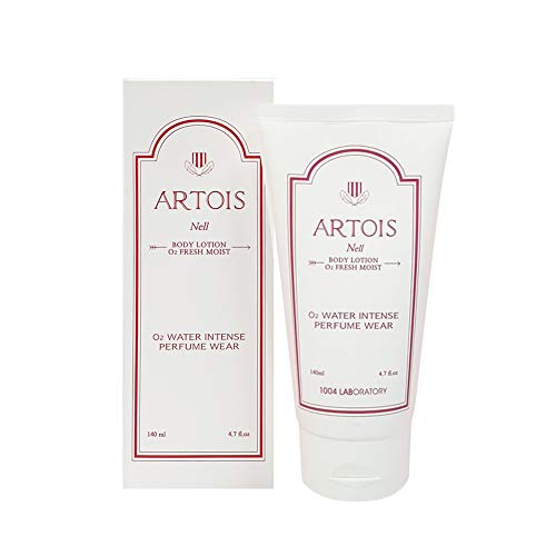 Korean Perfume Body Lotion Cream Moisturizer Firming Natural Light for Women with Dry Sensitive Skin | Artois NELL O2 Oxygen Fresh 1004LABORATORY | 4.7 fl.oz Floral Musk -  Amaranth cosmetics co., ltd., PR-COM-RT-X998485
