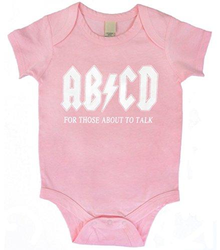 Kiditude AB/CD Pink Baby One Piece Bodysuit Romper, 18M