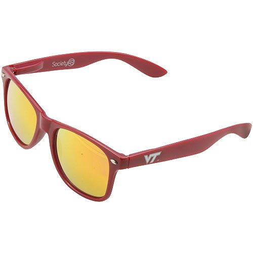 NCAA Virginia Tech Hokies VT-1 Maroon Frame, Orange Lens Sunglasses, One Size, Maroon by Society43
