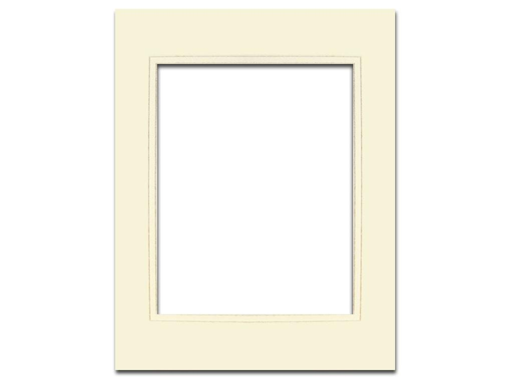 Double Layer Mat 11 x 14 inches PA Framing Cream Core Antique White and Matte Metallic Gold Inner