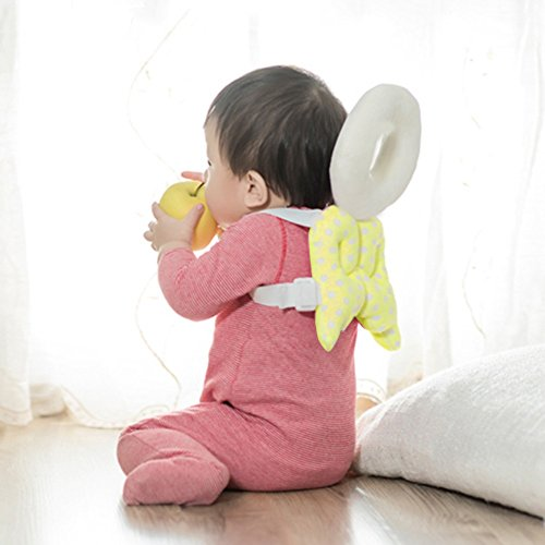 Gold Happy Gold Happy Baby Head Protection pad Toddler Headrest Pillow Baby Neck Cute Wings Nursing Drop Resistance Cushion Bebe Bedding Backpack Mat