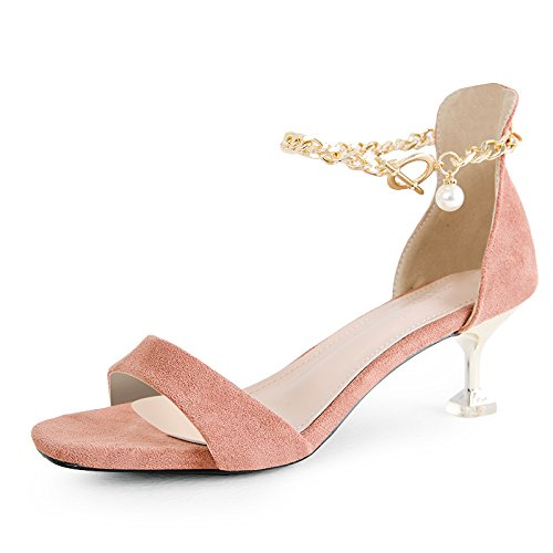 Heels AGECC With Sexy High And Pink Shoes Women'S Sandals qqrt6RB