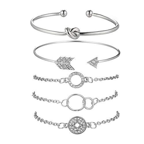 SEVENSTONE Layered Bracelet Set Adjustable Multiple Bangle Pineapple Turtles Beaded Stackable Wrap Bohemia Bangle Jewelry for Women Girls