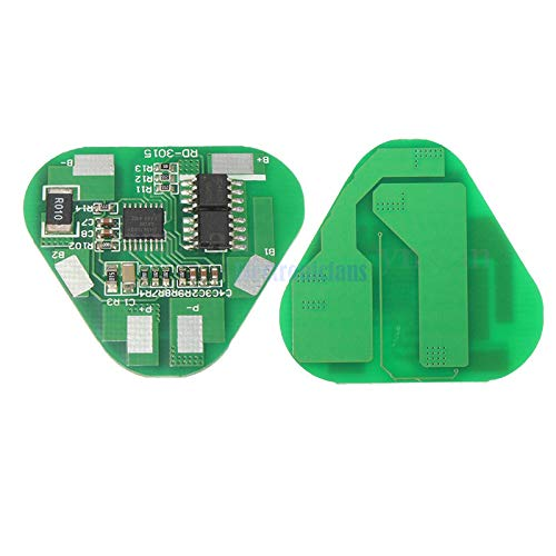 3S 4A Protection BMS Li-ion Li-Po Cylindrical Prismatic Lithium Polymer Battery 3 Cell PCB Module Board Short Circuit Overcharge ()