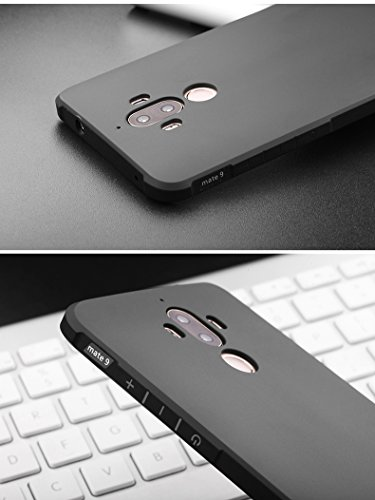 SMTR Huawei Mate 9 Funda Silicona, Huawei Mate 9 Funda Gel Suave TPU Case - Carcasa Resistente a los Arañazos para Huawei Mate 9 -Negro Negro