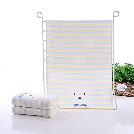 XXIN El Algodón Y El Lino, Toallas Oso Bordado Toalla75Gel Pro-Piel Baby Towel35*75Las Sábanas Toallas El Azul 35 * 75: Amazon.es: Hogar