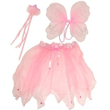 Cute Pink Fairy set , Comprising Wings, Wand and Tutu, Id...