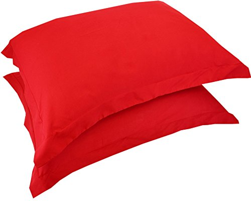 Mezzati Luxury Shams Set of 2 – Soft and Comfortable 1800 Prestige Collection – Brushed Microfiber Bedding(Red, Set of 2 Standard Size Shams Size) ()