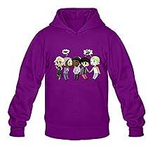 GYKU Men's Pentatonix Long Sleeve Sweater Size XL Purple,100% Organic Cotton