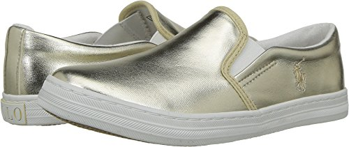 Polo Ralph Lauren Kids Girl's Benton II (Little Kid) Gold Metallic 13.5 M US Little (Gold Metallic Kid Footwear)