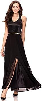 Noctflos Womens Sleeveless Split Evening Party Maxi Dress