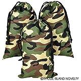 Camouflage Drawstring Bags - 1 Dozen