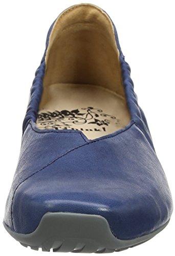 Think! Women's Gaudi_282176 Closed Toe Ballet Flats Blue (Capri 89 Capri 89) PipR7