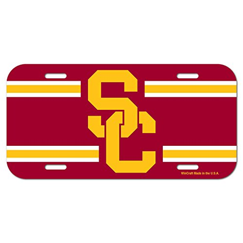 WinCraft Usc Trojans Official NCAA License Plate Plastic by 182982 by WinCraft