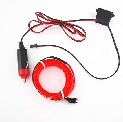 413us3XlESL._SX425_ amazon com 2m red el wire 12v car interior decor fluorescent neon