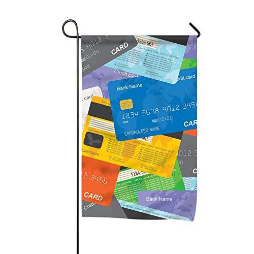 ZRRTTG Season House Garden Flags Credit Card Decorative ()