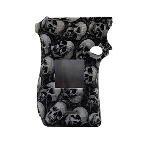 Rayley Protective Silicone Sleeve Case Skin Cover Decal for Smoktech SMOK MAG 225W Mod Skull Edition (Black)