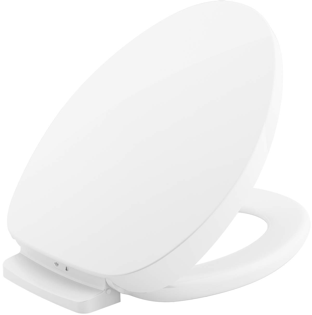 Heated Toilet Seat Amazon.Kohler K 10349 0 Purewarmth Heated Toilet Seat Elongated White With Quiet Close Lid And Seat Adjustable Led Nightlight And Warmth Settings App