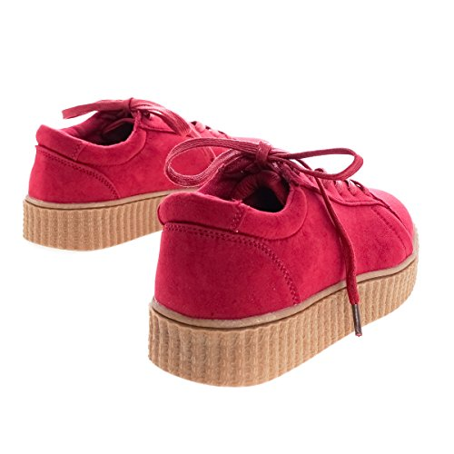 Sneaker Tooling Lace With Toe Classic Up Crsfs Ribbed Flats Platform Round qHTnOz