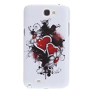 HC-Caso duro del patrón del corazón rojo con el Rhinestone para Samsung Galaxy Note N7100 2