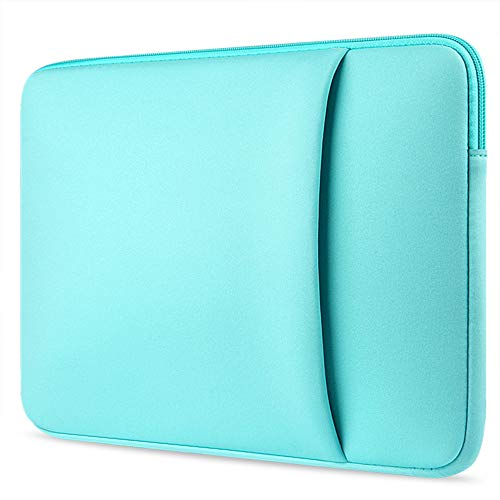 Jennyfly 13 inch MacBook Sleeve Case with Zipper, 360° Protective Laptop Sleeve Briefcase Anti-Scratch Protection Handbag Cover Slim Carrying Bag for 13-13.3 inch Laptop MacBook Tablet - Light Blue
