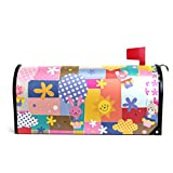 LORVIES Hot Air Balloons Pattern Magnetic Mailbox Cover Oversized 25.5 x 18 Inch