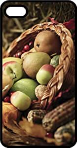 Apples Pears Pumpkins & Indian Corn In A Basket Tinted Rubber Case for Apple iPhone 4 or iPhone 4s