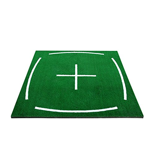 PGM Golf Course Hitting Mat Driving Range Practice Mat—-4.92FT X 4.92FT, With Alignment Line, Teaching Equipments