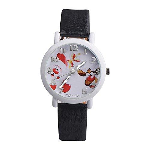 Kanpola Niño Smartwatch Fashion Relojes, Fashion Christmas Elderly Pattern Leather Band Analog Quartz Vogue Watches: Amazon.es: Relojes