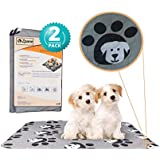 Zpane Washable Pee Pads for Dogs, 2-Pack Extra Large, Reusable Training Pads, Absorbent and Odor-Free, Leak-Proof, Whelping, Incontinence, Travel, Mattress Protector