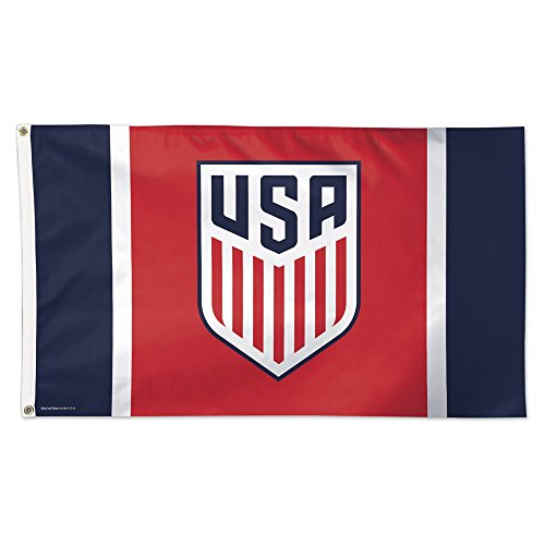SOCCER US Soccer - National Team 12829115 Deluxe Flag, 3' x 5' (Soccer Team Flag)