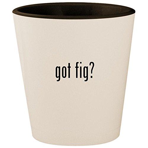 (got fig? - White Outer & Black Inner Ceramic 1.5oz Shot Glass)