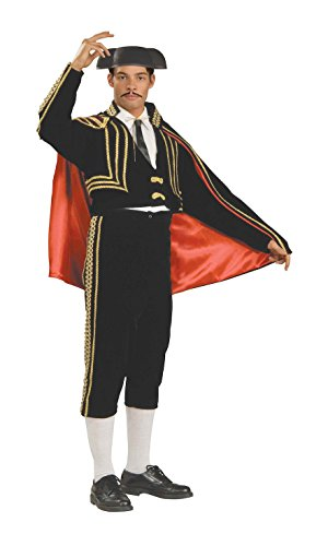 Forum Deluxe Designer Collection Matador Costume, Black/Red, X-Large
