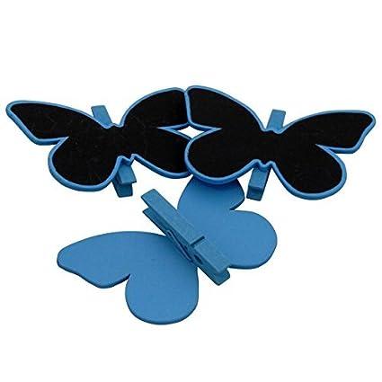 Mini Pinza Pizarra Letrero Brillante azul borde forma de ...