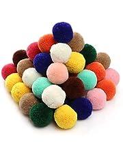 RUBY - 50stuks Ball Pompoms voor Ambachten, mini Vilten Ballen DIY (Gemengd, Ø30mm)