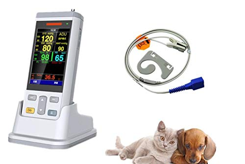 (Smart 138 SM150V Veterinary Vital Signs Monitor with SPO2, NIBP and Temp for Cat, Dog and Horse.)