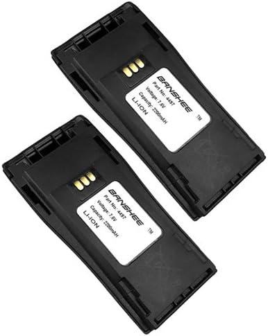 2 Pack 2200mAh Li-ion 7.5V Battery For NNTN4497 Motorola CP150 CP200 EP450