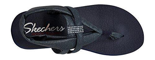 Skechers Cali Women's Meditation Slingback Yoga Flip-Flop,Navy/Silver Gem,8 M US by Skechers (Image #5)
