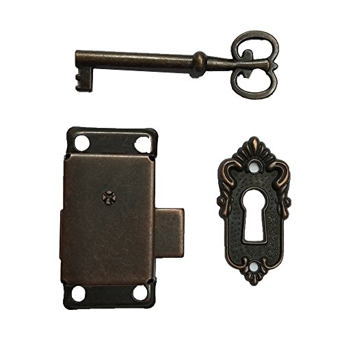 Bronze Small Brass Gold Plated Taro Cabinet Lock Iron Cabinet Door Locker Cupboard Door Lock Spring Door Lock (Bronze)