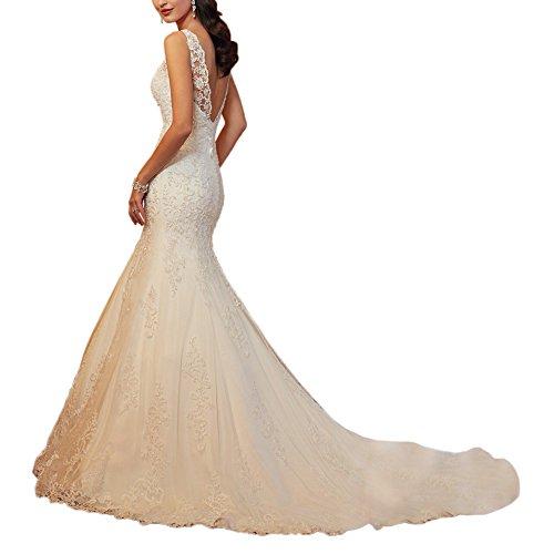 Femme Abaowedding Robe Abaowedding Robe Blanc 5CT7H7