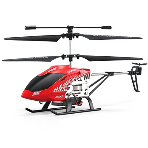 Iusun JJRC JX01 3.5CH 2.4G Gyro Remote Control Helicopter, Fashion Alloy Copter Beginner With Attitude Hover, RC Helicopter, Gift Toy for Adults Kids (Red)
