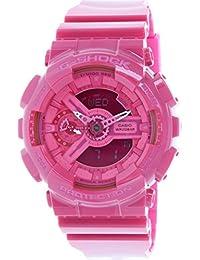 Casio Women's G-Shock GMAS110CC-4A Pink Resin Quartz Watch