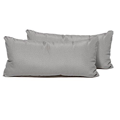 TK Classics PILLOW-GREY-R-2x Rectangle Outdoor Throw Pillows, Set of 2, Grey